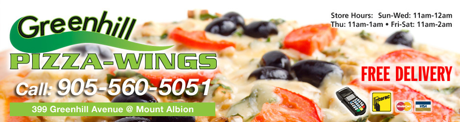 Greenhill Pizza and Wings - Pizza delivery in Greenhill and Mount Albion Area